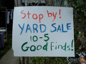 My own yard sale